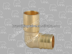 217-01 brass ppr pipe fitting (BRASS MALE SWEAT ELBOW90(BARB X MALE SWEAT)FTG.)(C37700)