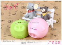 Contact lens case with mirror,factory outlet hot selling animal little pig contact lens case