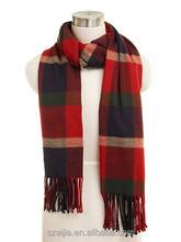 Plaid acrylic scarf pashmina scarf pashmina shawl