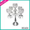 2013 new design acrylic 5 arm candelabra for wedding centerpiece decoration candle holder