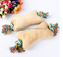 Natural dog toy Eco-friendly pet toy plush dog toy with rope