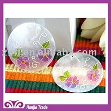 Printed Seashell, Flower, Capiz Shell