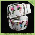 Cinturón finura para mujeres folk style correa de encargo de la flor tela impresa cinturones