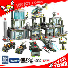 promotional gift for boys 1159pcs field army troops building blocks interlocking plastic toy