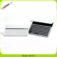 Hot selling Aluminum solar energy keyboard case for ipad 4 3 2 BK315
