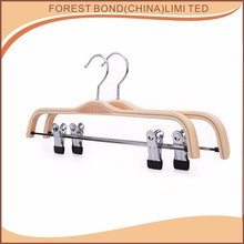 Wholesale high quality laminated hook clothes pant wooden hanger