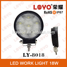 2015 Brightest on the market IP67 LED 18W LED Work Light,12/24V Driving On Truck,Jeep, Atv,4WD,Boat,Mining LED driving light