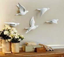 3D bird wall decoration resin 3d wall decor