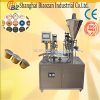 Rotary style plastic cup packing equipment of coffee capsule filler and sealer