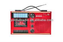 Best Quality Classic AM/FM/SW Radio Portable USB SD Cassette Recorder