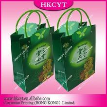 Brown kraft grocery paper bag / supermarket paper bag with handles
