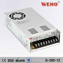 Manufacturer 250w 12v 20a ac to dc switching mode power supply