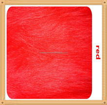 [JOY]2015 hot selling!!! red 120mm long pile for toys,long fake hair plush