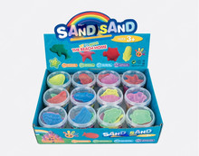 Hot Selling Magic Modeling Space Sand Toys Kinetic Sand in display box
