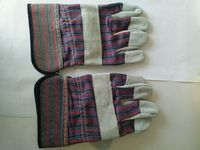 Brown worm Gloves Leather Palm Gloves