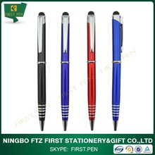 Promotional 2 In 1 Slim Metal Stylus Pen
