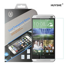 HUYSHE manufacturer anti-fingerprints tempered glass screen protector for htc one x/m8, Screen protector machine