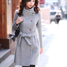 D60628A 2013 WINTER WOMEN WOMEN'S SLIM COTTON CASHMERE COAT CASHMERE COAT WOOL COAT