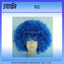 wholesale football fan wig blue