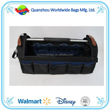 2015 Good quality steel handle open tote garden tool bag ,tooling bags ,tool bag