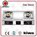 Las ventas caliente 2 quemador de gas estufas tipo 0.4mm y de aceroinoxidable material de la superficie de la estufa de gas