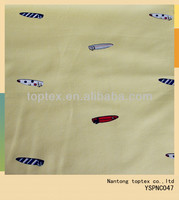 sailboat printed yarn dyed oxford cotton fabric for shirt