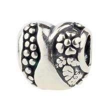 Wholesale Heart Antique 925 Sterling Silver Charm for European Bracelet C401