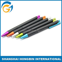 Black Color Rubber Barrel Cheap Plastic Promotional Pen