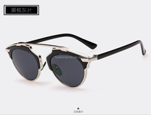 2015 fashion women sunglasses with innovative acetate and metal mixed frame