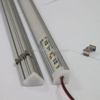 aluminum led light profile for cabinet,frosted or transparent cover, mounting clips,end caps,custom-lengths,Shenzhen factory