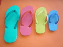rubber slippers colored