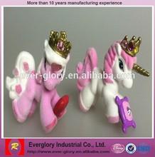 Custom Flocking Plastic Horse Animal Figurines Toy