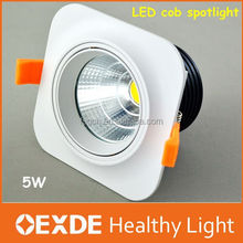 aluminum economic led cob spot light 5w