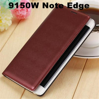 New Hot Sale Battery Housing Case PU Leather Wallet Flip Cover For SamSung Galaxy Note Edge N9150 Smart Case With Qr Code