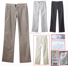lady long pants A3404B outlet stock clothes