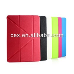 New Arrival Transformer Slim Dual Trendy Multi-Viewing Portfolio Protection Smart PU Leather Case for Apple iPad 5 iPad Air