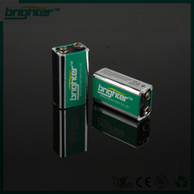 2014 BRIGHTER best new product 6LR61 9v ultra alkaline battery & extra heavy duty with 18650 battery online shopping india