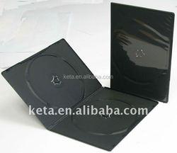 7MM Slim Double Black Cover Plastic Long DVD Case
