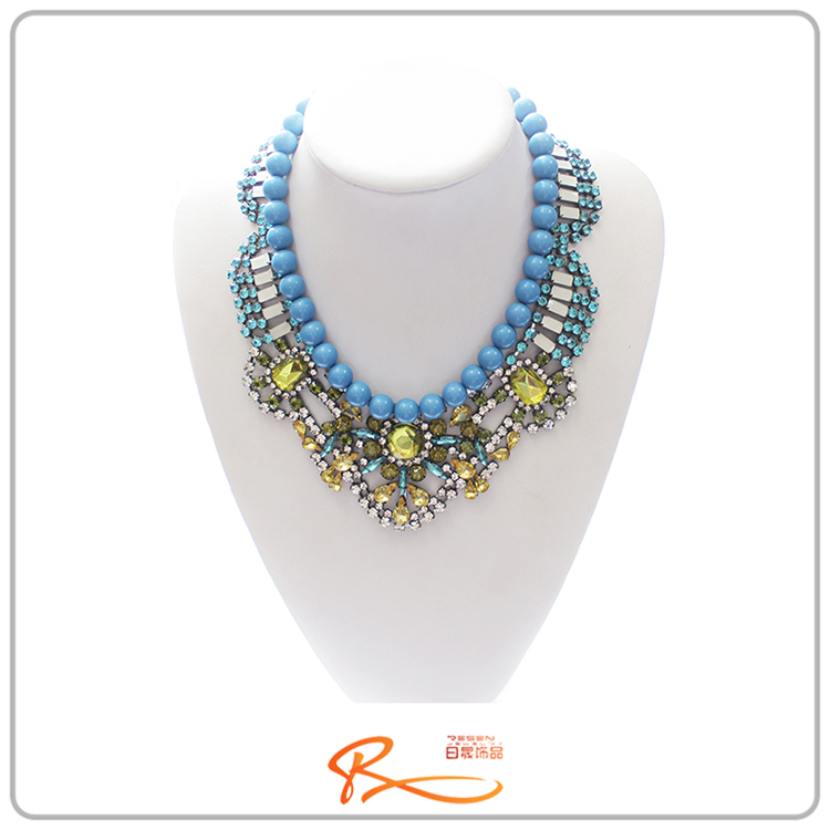 high end fashion costume jewelry gemstone necklaces