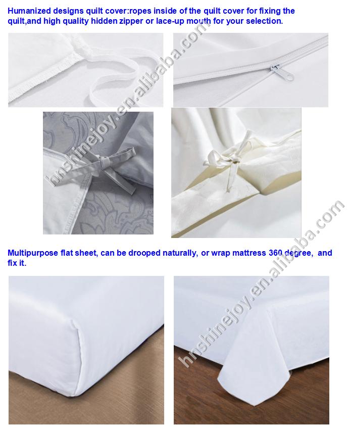 Roi taille percale polyester coton h tel drap de lit for Taille draps housse