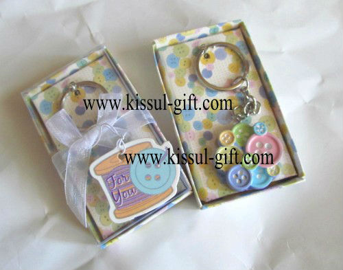 Keychain For Wedding Gift : Cute As a Button Keychain Baby Shower favors For wedding gifts
