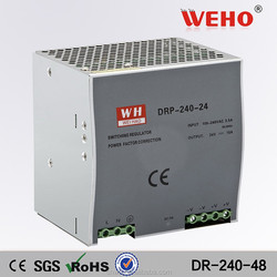 CE RoHS approved Din rail DR-240-48 constant current led driver 220v dim