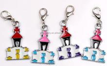 enamel metal pendant with lobster clasp hangbag pendant car key chain pendant accessories wholesale