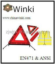 safety kits with CE waring triangle safety reflective vest