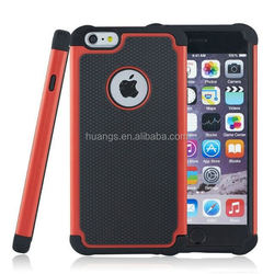 High quality Rugged Football Dot Hybrid Plastic + Silicone Back Skin Cover for iphone 6 hybrid case made in china