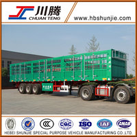 China HBS 3 axles heavy duty fence truck trailer for sale