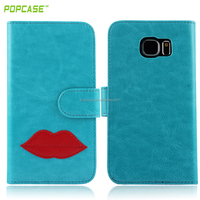 filp leather cover case for samsung S6