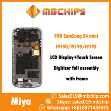 Replacement LCD Display Touch Screen Digitizer with frame full assembly For Samsung For Galaxy S4 Mini i9190 i9195 i9192