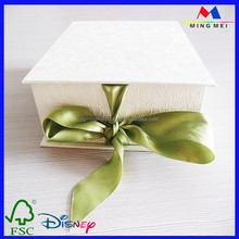 Custom logo ribbon closure factory supply cardboard gift boxes wholesale, box packaging