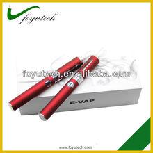 Newest design evod battery indicator power through the color of bottom e cigaret starter kit